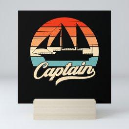 Sailing Ship Captain Vintage Sailboat Sailing Mini Art Print