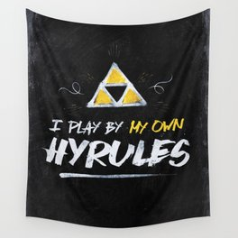 Legend of Zelda Inspired Type I Play by My Own Hyrules Wall Tapestry