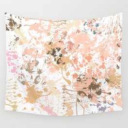 Skin Tones - Liquid Makeup Foundation - on White Wall Tapestry