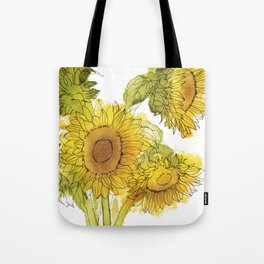 Light of the World - Sunflowers Tote Bag