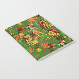 Tiki Temptress on Green Notebook