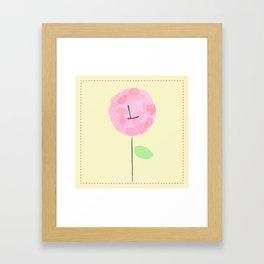 Flower L Framed Art Print