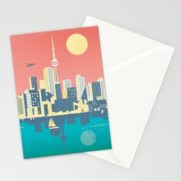 Toronto City Skyline Art Illustration Stationery Cards