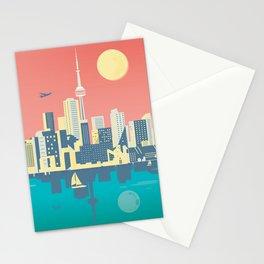 Toronto City Skyline Art Illustration - Cindy Rose Studio Stationery Cards