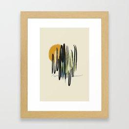 Yellow sun Framed Art Print