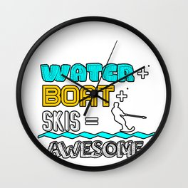 Water Skiing Boat Skiers Sailing Sail Sports Gift  Wall Clock