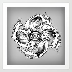 WITHIN THE EYE OF THE STORM Art Print