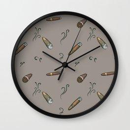 Smoky cigar pattern Wall Clock