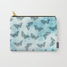 Black Butterfly Print Carry-All Pouch
