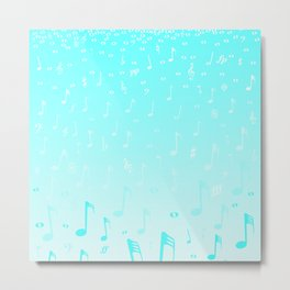 Snowing Music Metal Print