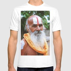 Saint smile SMALL White Mens Fitted Tee