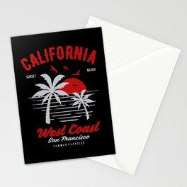 california sunset beach Stationery Cards