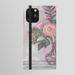 Pops of Hot Pink Florals iPhone Wallet Case