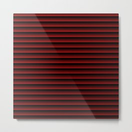stripes background dark red with black Metal Print