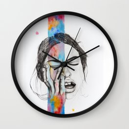 Hit with color Wall Clock