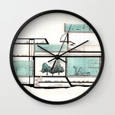 octopus architecture Wall Clock