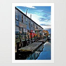 Market on the side Art Print