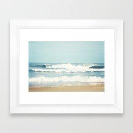 Ocean Photography, Calming Sea Photo, Blue Waves Seascape Photograph, Beach Print Framed Art Print