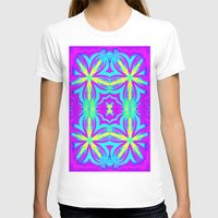 psychedelic art T-shirts featuring psychedelic Floral Fuchsia Aqua by 2sweet4words Designs