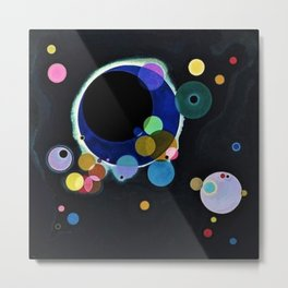 Planets & Moons (Several Circles) by Wassily Kandinsky Metal Print
