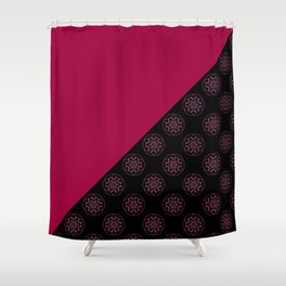 Pink and fractals Shower Curtain