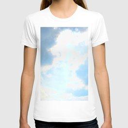 blue, cloud study T-shirt