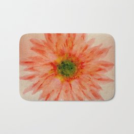 salmon flower Bath Mat
