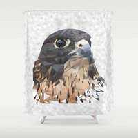 falcon Shower Curtains featuring Falcon by Kozza