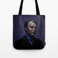 hannibal Tote Bags featuring Hannibal by Palloma