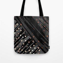 Elegant Contemporary Silver Zebra Polka Dots Pattern Tote Bag