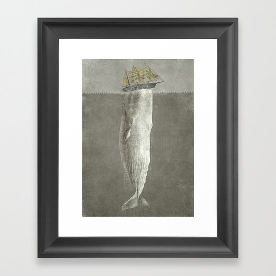Revenge of The Whale Framed Art Print