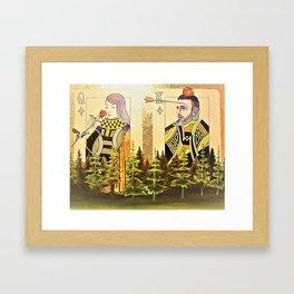 Nie żałuj róż gdy płonie las Framed Art Print