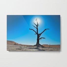 Silhouette Dead Tree Deadvlei Namibia Metal Print