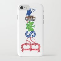 patriots iPhone & iPod Cases featuring Boston by Michela Deck