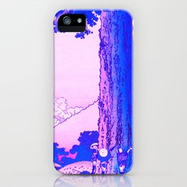 mishima pass in kai province remix in purple iPhone Case