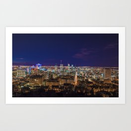 Montreal Nightlights Art Print