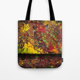 Abstract Distressed #1 Tote Bag