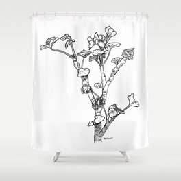 Geranium Sketch #2 Shower Curtain