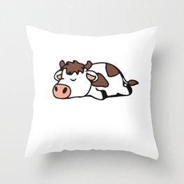 Slumber Cow Animal Party Shirt Sleepover Pajama Girl Women Throw Pillow