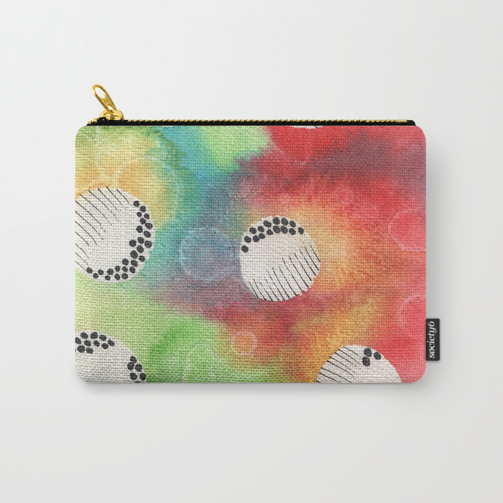 Watercolor Vibrant Abstract Painting Carry-all Pouch by Kingaszumilas CAP8943922