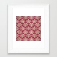 damask Framed Art Prints featuring Damask by Arcturus