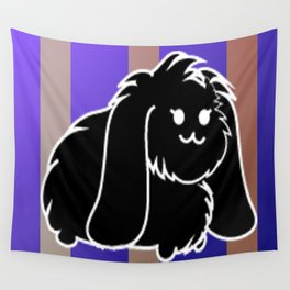 A black bunny Wall Tapestry