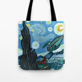 Starry Flight Tote Bag