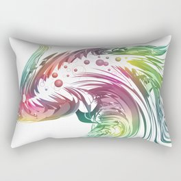 Beautiful exotic and artistic fish illustration on white background Rectangular Pillow
