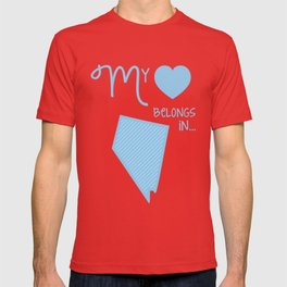 My Heart Belongs in Nevada T-shirt