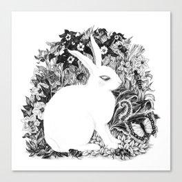 Ghost Bunny Canvas Print