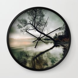 Perfect Landscape Tree Over Water (Color) Wall Clock