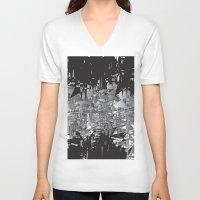 broken V-neck T-shirts featuring BROKEN by aurelien vassal