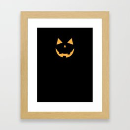 Minimal Jack o'lantern Framed Art Print