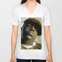biggie smalls V-neck T-shirts featuring The Notorious B.I.G (Biggie Smalls) by darylrbailey